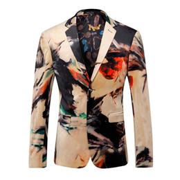 Wholesale Colorful Mens Suits - Blazer Men Designer Colorful Mens Blazer Jacket Italian Suits Brands Fancy Suits For Men Party Prom Wedding Dress