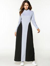 Wholesale Plus Size Kaftan Dresses - Women Winter Autumn ZANZEA L-5XL Plus Size Loose Trutleneck Long Sleeve Batwing Maxi Shirt Dress Kaftan Vintage Retro Vestido