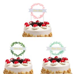 torta di dolci dolci da sposa Sconti 20pc Cake Toppers Flags Sweet Love Kids Birthday Cupcake Cake Topper Matrimonio Sposa Party Baby Shower Cottura Decorazioni FAI DA TE Natale Nuovo