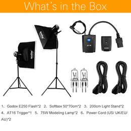 fotografische lichtkits Rabatt Fotostudio-Kits Godox Strobe Studio Blitzlicht-Kit 500W - Fotografische Beleuchtung - Blitze, Lichtstative, Auslöser, Softbox