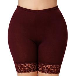 2019 shorty shorts Frauen-Spitze-Sicherheits-kurze Pantsies Anti geleerte Unterwäsche-hohe elastische Taillen-Kurzschluss-Boxer Shorty-Schlüpfer günstig shorty shorts