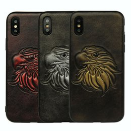 Argentina Funda de cuero 3D Eagles para iPhone 8 i7plus 6p Funda de parachoques Parrot Priate Fishbone Xphone X Fundas X I Protector de teléfono iPX Suministro