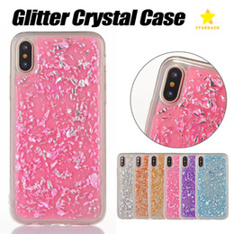 Wholesale Glitter For Phones - For iPhone X iPhone 8 Plus Samsung S8 S9 Plus Phone Case Bling Back Cover Case Soft TPU Glitter Crystal Case with OPP