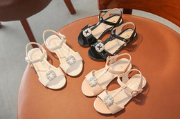 Wholesale Dance Shoes Sandals - Girls Sandals 2018 Summer New Korean Princess Shoes Children Rhinestone Dance Sandals