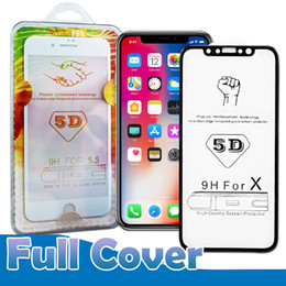 Wholesale quality 3d glasses - 5D Curved Tempered Glass For Iphone X 10 7 8 6 Plus 9H Screen Protector Better 3D 4D Edge High Quality With Package