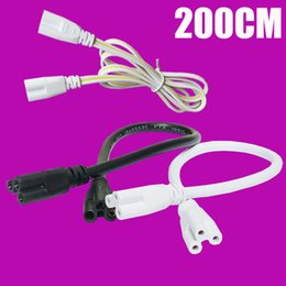 Wholesale Lamp Socket T5 - T5 T8 LED Lamp connecting wire LED integrated tube cable linkable cords for LED Tube Holder Socket Fittings 0.3M 0.6M 1M