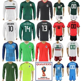 17ae6de82 goalkeeper kit jerseys Canada - Mexico Long Sleeve Jersey Soccer 2018 World  Cup Mexican 10 Giovani