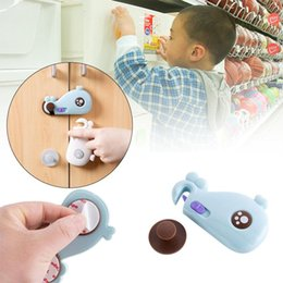 Wholesale Toilet Safety Lock - Drawer Door Cabinet Cupboard Toilet Safety Locks Baby Kids Safety Care Plastic Locks Straps Infant Baby Protection