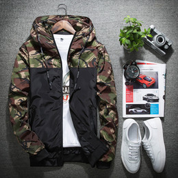 Wholesale Korean Casual Sportswear - New fashion men jackets Korean casual designer bomber jacket camouflage windbreaker mens spring and autumn sportswear coat baseball jacket