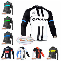 GIANT team Cycling Winter Thermal Fleece jersey men's Hot Sale new Breathable quick-dry MTB bike D2529