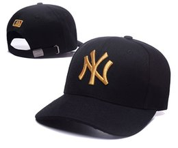 Wholesale women visors - 2018 Baseball Cap NY Embroidery Letter Sun Hats Adjustable Snapback Hip Hop Dance Hat Summer Outdoor Men Women White Black Navy Blue Visor