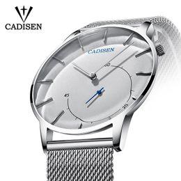 0d14d35de7a Cadisen ultra-fino homens relógios top marca mens relógios de luxo à prova d   água relógio de quartzo de negócios relógio esportivo homem relogio  masculino ...