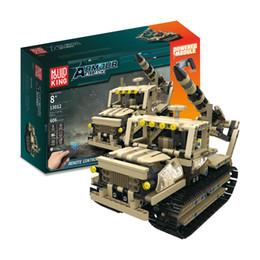 Argentina Bloques de construcción montados eléctrico control remoto coche juguetes educativos para niños militar lanzacohetes bloques de control remoto Suministro
