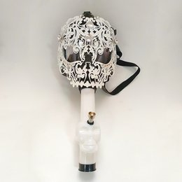 Wholesale Custom Bongs - New Iron Gas Mask and Bong Acrylic Water Pipe Black And White In Stock Whosales Custom Made