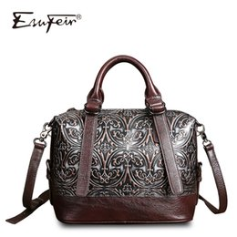 Wholesale Designe Handbags - Genuine Leather Luxury Handbags Women Boston Bags Designe Embossed Leather Shoulder Bag Pillow Bag Ladies Bag sac a main