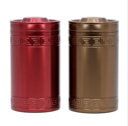 Wholesale Tea Coffee Containers - Creative Alloy Round Tea Pot 60*107mm Storage Tin Box Storage Case Metal Coffee Tea Candy Box Cylinder Container 2 Colors OOA4015