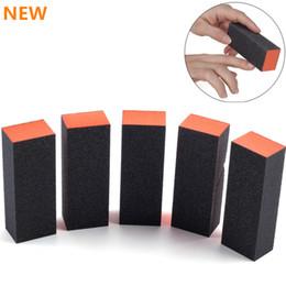 Wholesale Sponge Buffer Sanding Block - Nail Manicure Buffer Buffing Sanding Sponge Block Files Grit Acrylic Tool Art Salon Tool Black