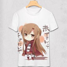 Wholesale Fun Sexy Costumes - New Novelty Fashion Anime Sword Art Online T Shirt Yuki Asuna TShirt 3D Print Sexy Fun T-shirt cosplay costume Men&Women Shirt