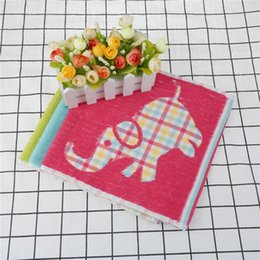 Wholesale Green Products Kids - hand dry towel for kitchen bathroom useful cartoon animal elephant print kids absorbent bathroom products