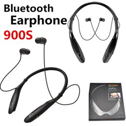 Новые hbs онлайн-Новый универсальный шейным Спорт Bluetooth наушники HBS 900s наушники Беспроводные наушники ручной гарнитуры с микрофоном последние 15 часов V4.2 Для Телефона