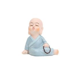 Roogo Drôle Moine Figurines 7pcs / Set Vente Chaude Vie forme Miniature Figure Bureau Ornement Bureau Décor Bouddha Statue Zen Jardin ? partir de fabricateur