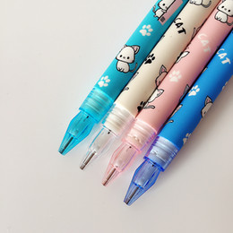 Wholesale Cute Stationery Office Supplies - L02 4X Cute Kawaii Lovely Cat & Paw Press Mechanical Pencil Writing School Office Supply Student Stationery Automatic Pencil
