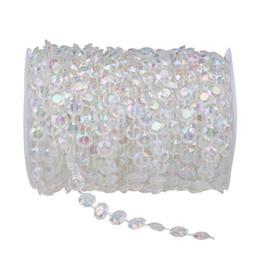 Rollo de cuentas de cristal online-30M Clear Crystal Like Beads por el Roll Wedding Decoration