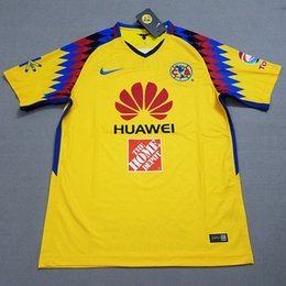 Wholesale Jersey Club America - 2017 2018 Liga MX mexico club america 3rd jersey 17 18 Club america soccer jersey DOMINGUEZ PERALTA quintero football shirt kit
