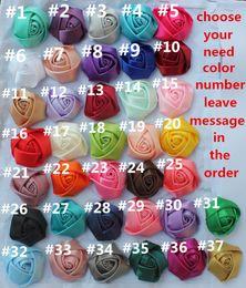 2019 rubans de satin 100 PCS 5cm (1.96 pouces) En Gros Livraison Gratuite Soie Rose Faux Rose Bouquet Matériel Artificielle Tissu Fleur 37 Couleurs Pour Choisir