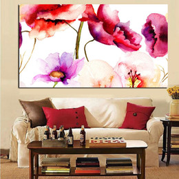 Wholesale modern canvas art flower painting - Abstract Watercolor Floral Flower Canvas Painting Modern Minimalist Alpine Orchid Poster Wall Pop Art Picture Home Cuadros Decor