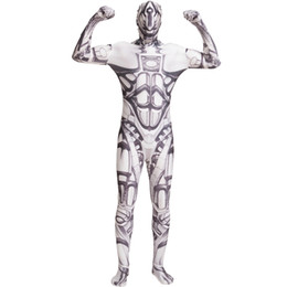 second skin body suit Coupons - LZCMsoft RoboCop Cosplay Costumes Full Body Second Skin Zentai Bodysuits for Men & Kids Halloween Suits