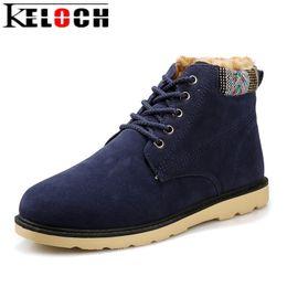 Wholesale Insoles Warming - Keloch Newest Winter Boots Men Short Plush Insole Keep Warm Men Winter Shoes Male High Quality Snow Boots Botas Hombre