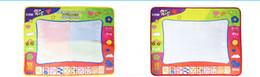 Büyük büyülü sihirli su tuval yazma battaniye graffiti monokrom yazı battaniye doodle çocuk çizim kalem eğitici oyuncak mat + 2 wate cheap water pen mat nereden su sayacı tedarikçiler