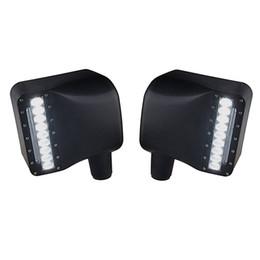Led lichter rückspiegel online-Auto Weiß Seitenleuchte Rück LED Seitenspiegel Gelb Blinker Licht Für Jeep Wrangler JK Jku