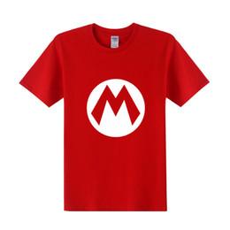 1f6b5d965 mario novo camisetas Desconto 17 cores Super Mario T Camisa Em Branco Verão  Novos Homens Dos