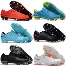 Botas de fútbol para hombre con bajo tobillo CR7 Mercurial Vapor XI FG SX  Neymar Superfly V Zapatillas de fútbol Vapor ACC Botas de fútbol al aire  libre 2f9b183b33337