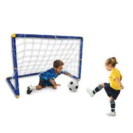 Wholesale Toys Gate - Children's Indoor Plastic Sports Shooting Portable Folding Children Kid Football Goal Door Set Football Gate Outdoor Indoor Toys