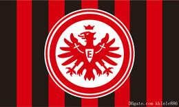 Banderas deportivas online-Eintracht Bandera de Frankfurt 90 x 150 cm Poliéster Muere Adler German Football Club Sports Banner
