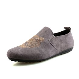Wholesale Opening Drive - 2018 Fashion Moccasins Men Summer Breathable Mens Shoes Casual Velvet Leather Slip on Driving Shoes Fashion Flats Slip-on Men Loafers