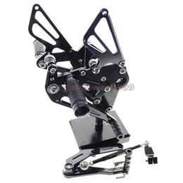 Мотоцикл Rearset подножки задний набор подножки полностью регулируемая подножки для Yamaha FZ-09 MT-09 2013-2017 XSR900 2016-2017 от Поставщики мотоциклетные штифты для ног