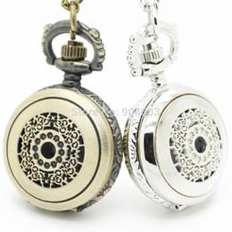 Wholesale Wholesale Victorian - (3015)Fashion Victorian Filigree Flower watch Necklace Pocket watch pendant, 12pcs lot , Dia 2.7cm. Free shipping