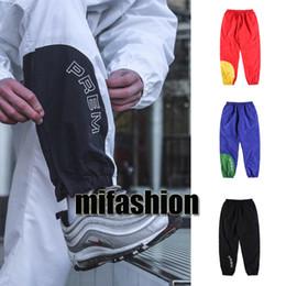 Wholesale Hip Hop Track Pants - fashion Europe 18ss Collection 18SS Corner Arc Track side zipper casual split sweatpants men women hip hop jogger pants school uniform