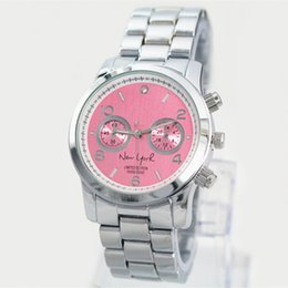 Wholesale Brands New York - 2018 Best Gifts New York limited Watches lady Luxury Brand Women Nice Dress Casual Watches Stainless steel clock famous fashion design Watch
