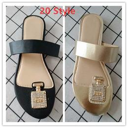 Wholesale famous flip flops - Classics c Luxury brand Slippers Fashion Women Flip Flops 2018 Design Flip flops Mules Flat Heel Sandal famous brand chaussure femme k