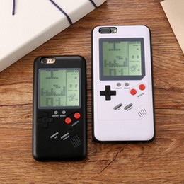 nueva motomo samsung Rebajas Fundas de teléfonos Gameboy Tetris Play Cubierta de la consola de juegos Funda de protección a prueba de golpes TPU para iPhone X 8 7 6 Plus Paquete al por menor