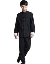 благородное королевское платье Скидка Шанхай история китайский стиль Тан костюм китайский традиционная одежда для мужчин мандарин воротник китайская рубашка + брюки набор