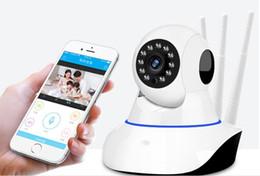 lente de orificio 3.7mm cctv mini cámara Rebajas ¡Nuevo! Pan Tilt Wireless HD 1080P Cámara IP WIFI 2.0MP CCTV Video Vigilancia P2P Seguridad para el Hogar Tres Antenas WiFi Baby Monitor IPCAM