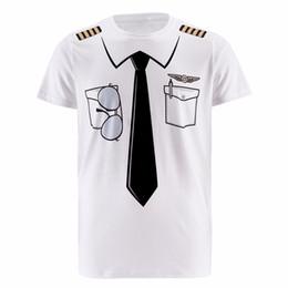 2019 magliette mediche New Men Pilot Police 3d T Shirt Doctor Gentleman Adulto Divertente Festa Cop Punpkin Pirata Marinaio Babbo Natale Carnevale Cosplay Abiti O-Collo magliette mediche economici
