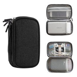 Kabel-aufbewahrungsbeutel online-Umweltfreundliche Reisegadget Organizer Tasche tragbare digitale Kabeltasche Elektronikzubehör Lagerung Tragetasche Tasche für USB-Energienbank