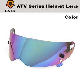 """Wholesale full face visors - CRG ATV Series helmet PC lens 3mm 5 colors universal visor for CRG 1-5 motorcycle helmet lens """"Simpson STYLE"""" Street Pig helmet lens"""